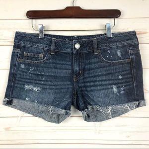 American Eagle Outfitters Cutout Denim Shorts Sz 8